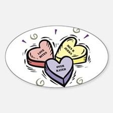 Customizable Candy Hearts Oval Decal