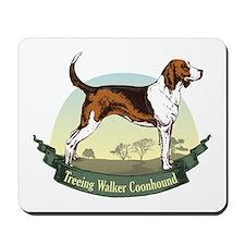 Treeing Walker Coonhound: Banner Series Mousepad