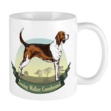 Treeing Walker Coonhound: Banner Series Small Mug