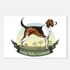 Treeing Walker Coonhound: Banner Series Postcards