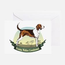 Treeing Walker Coonhound: Banner Series Greeting C