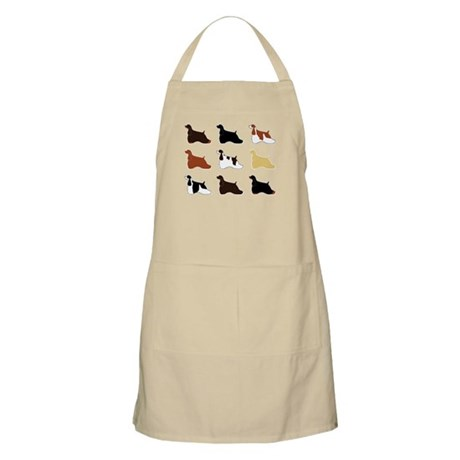 Colorful Cockers BBQ Apron