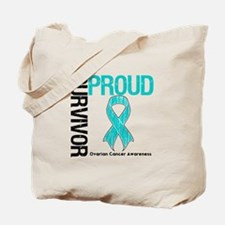 OvarianCancer ProudSurvivor Tote Bag