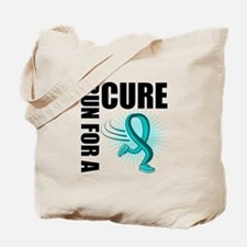 RunForACure TealRibbon Tote Bag