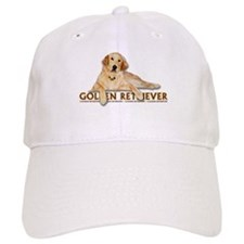 Golden Retriever Painted Baseball Cap