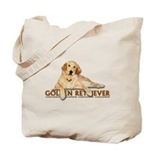 Golden Retriever Painted Tote Bag