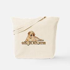 Golden Retriever Painted Tote Bag