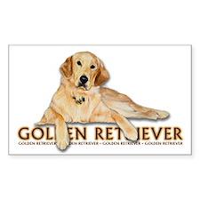 Golden Retriever Painted Decal