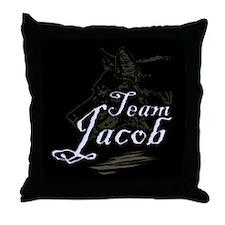 Team Jacob Werewolf Throw Pillow