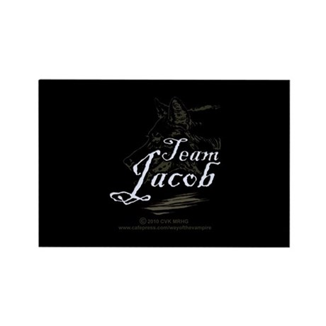 Team Jacob Werewolf Rectangle Magnet (10 pack)