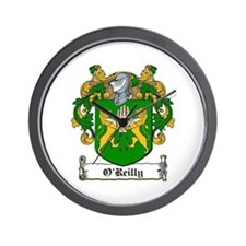 O'Reilly Family Crest Wall Clock