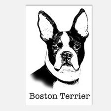 Graphic Boston Terrier Postcards (Package of 8)
