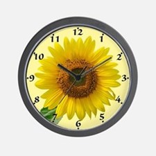 Funny Sunflower field Wall Clock