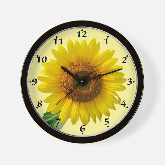 Cute Growing flowers Wall Clock
