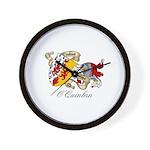 O'Quinlan Coat of Arms Wall Clock
