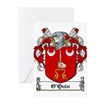 O'Quin Family Crest Greeting Cards (Pk of 10)