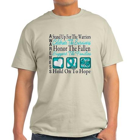 Ovarian Cancer StandUp Light T-Shirt