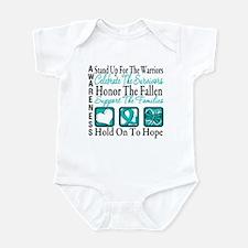 Ovarian Cancer StandUp Infant Bodysuit