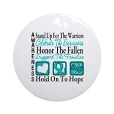 Ovarian Cancer StandUp Ornament (Round)