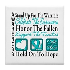 Ovarian Cancer StandUp Tile Coaster