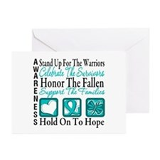 Ovarian Cancer StandUp Greeting Cards (Pk of 20)