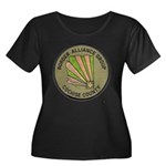 Cochise Women's Plus Size Scoop Neck Dark T-Shirt