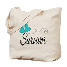 OvarianCancer ButterflyTrail Tote Bag