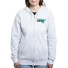 Screw Ovarian Cancer Zip Hoodie