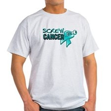 Screw Ovarian Cancer T-Shirt
