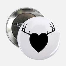 """DEER HEART - 2.5"""" BUTTON 2.25"""" Button (1"""