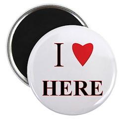 I Heart Here Magnet