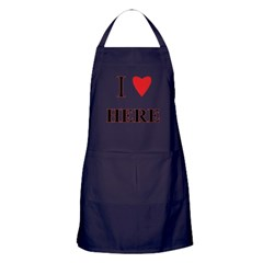 I Heart Here Apron (dark)