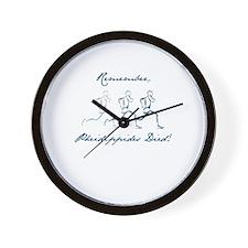 Pheidippides Died! Wall Clock
