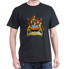 Malawi Coat Of Arms Black T-Shirt