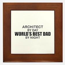 World's Greatest Dad - Architect Framed Tile