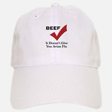 Beef=No Avian Flu Baseball Baseball Cap