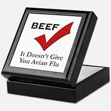 Beef=No Avian Flu Keepsake Box
