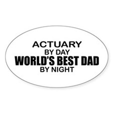 World's Greatest Dad - Actuary Decal