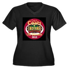 Dan Coats Indiana Women's Plus Size V-Neck Dark T-