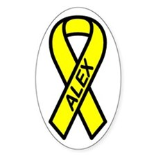 ALEX - Yellow Ribbon Oval Decal