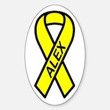 ALEX - Yellow Ribbon Oval Decal