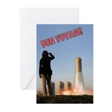 Unique The rocket summer Greeting Cards (Pk of 10)