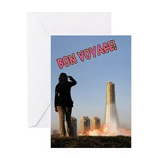 Cute The rocket summer Greeting Card