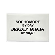Deadly Ninja by Night - Sophomore Rectangle Magnet