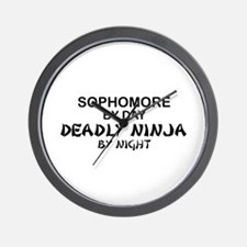 Deadly Ninja by Night - Sophomore Wall Clock