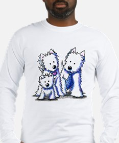 Father's Day Westies Long Sleeve T-Shirt