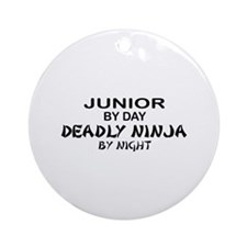 Deadly Ninja by Night - Junior Ornament (Round)