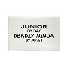 Deadly Ninja by Night - Junior Rectangle Magnet