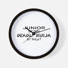 Deadly Ninja by Night - Junior Wall Clock