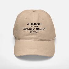 Deadly Ninja by Night - Junior Baseball Baseball Cap
